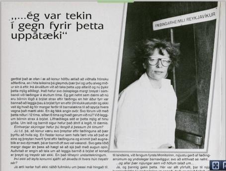 Skjáskot úr umfjöllun um Fæðingarheimilið og aðdraganda lokunar þess í Veru, 3. tbl., bls. 22-27